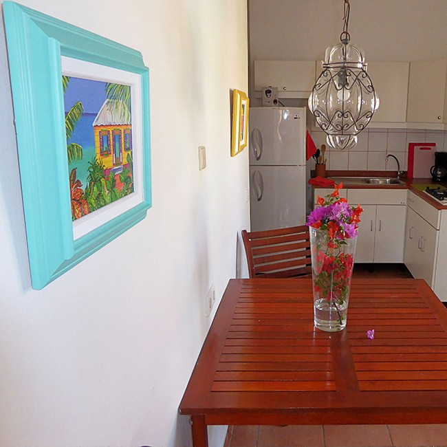 Appartementen BlouBlou Curaçao Kaya Damasco.