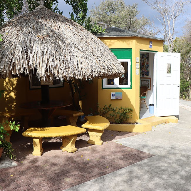 The Flamingo Park bungalows in Curaçao.