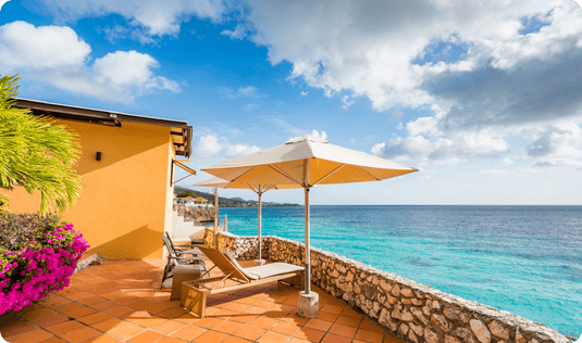 Explore Casha's accommodations when on vacation in Curaçao.