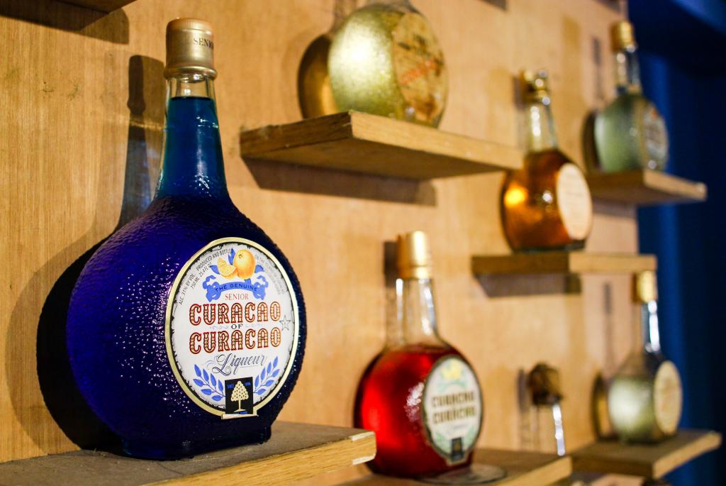 Vintage Curaçao Liqueur Bottles - Copy